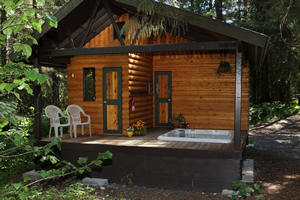 Hot Tub & Sauna Building on Bear Creek